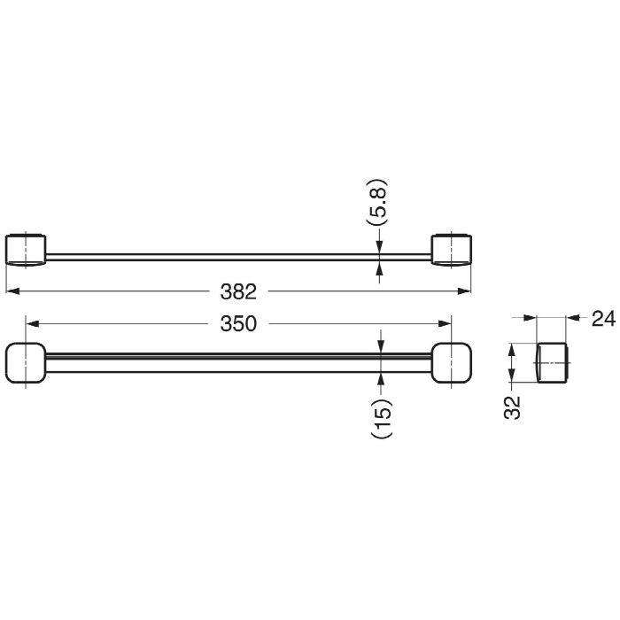 ランプ印ネクタイ掛S-350型 S-350W 110-020-118