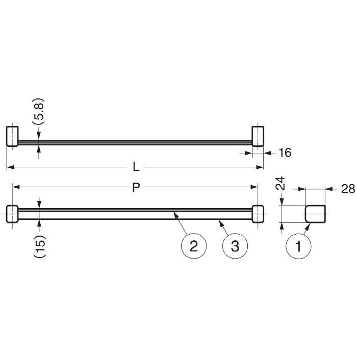 ランプ印ネクタイ掛STR型 STR-400 110-020-246