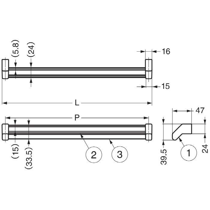 ランプ印ダブルネクタイ掛DTR型 DTR-350 110-020-154