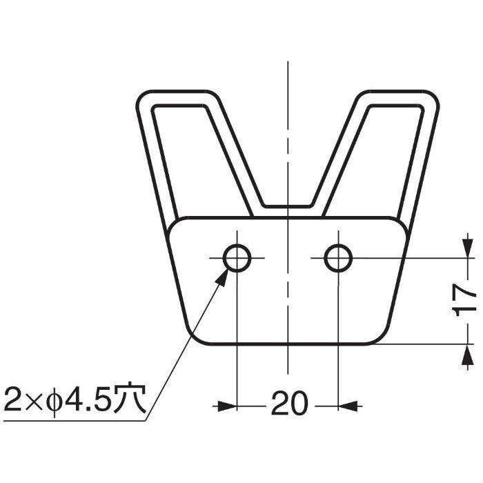 プラスチックフック ダブル WB-901146 WB-901146 110-020-216