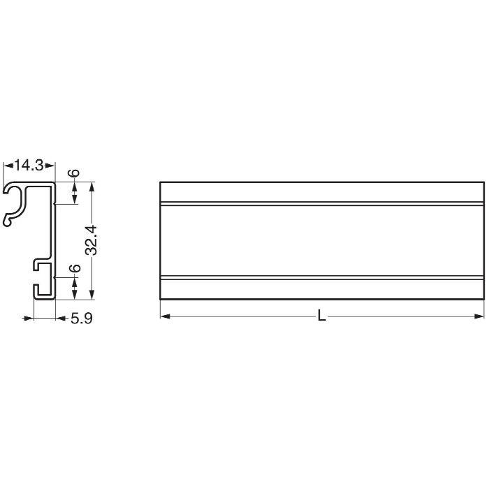 レール A12型 A1212 110-020-341