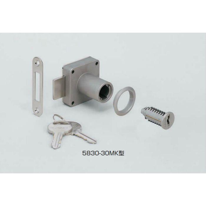 ランプ印シリンダー脱着式面付シリンダー錠5830型(別番) 5830-24MK-B 150-001-006
