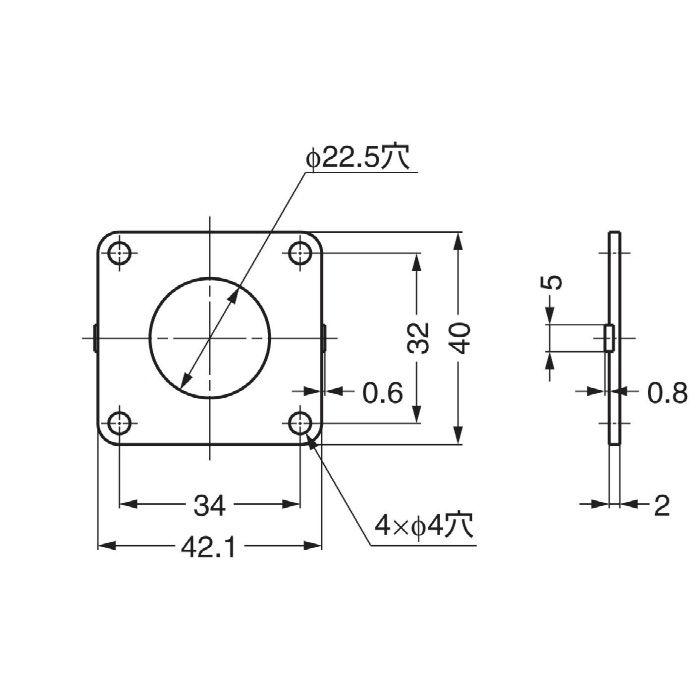 ランプ印スぺーサー5830-SP 5830-SP 150-060-569