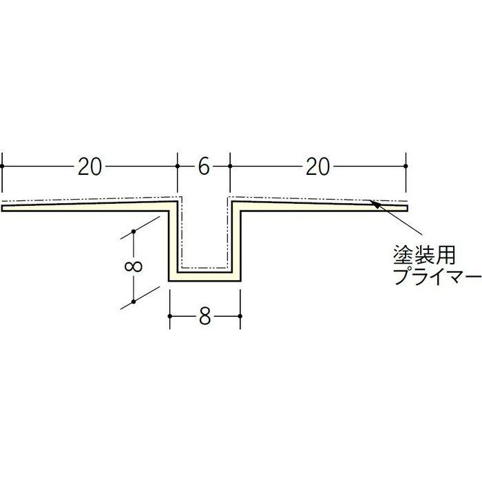 ハット目地6塗装プライマー付 ミルキー 2.5m 37144-1