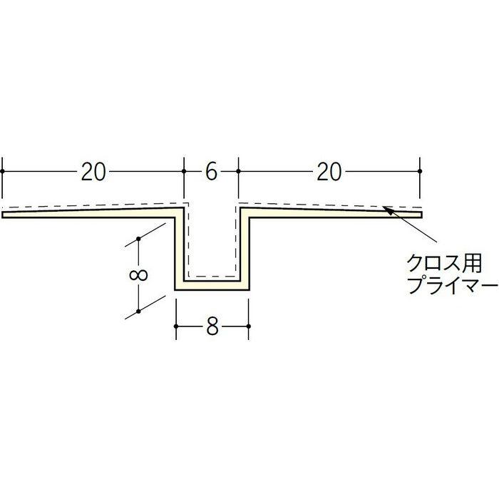 ハット目地6クロス用プライマー付 ミルキー 2.5m 37172-1