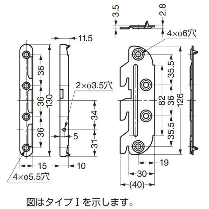 ベッド金物BF-806 BF-8062 1セット 120-041-263