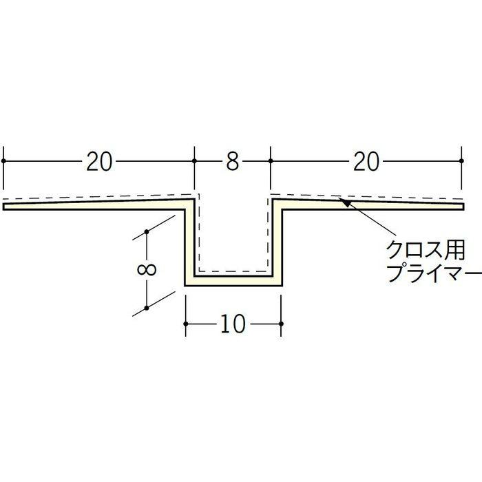 ハット目地8クロス用プライマー付 ミルキー 2.5m 37173-1