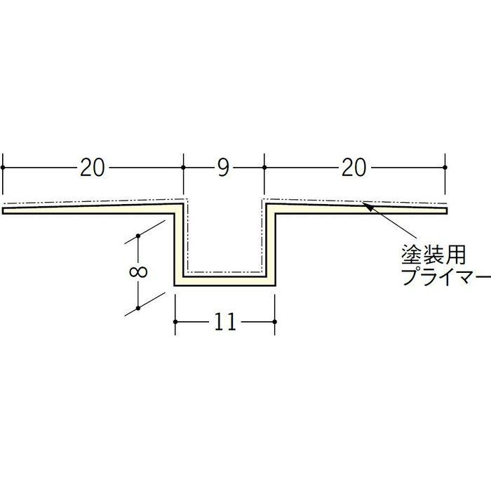 ハット目地9塗装プライマー付 ミルキー 2.5m 37153-1