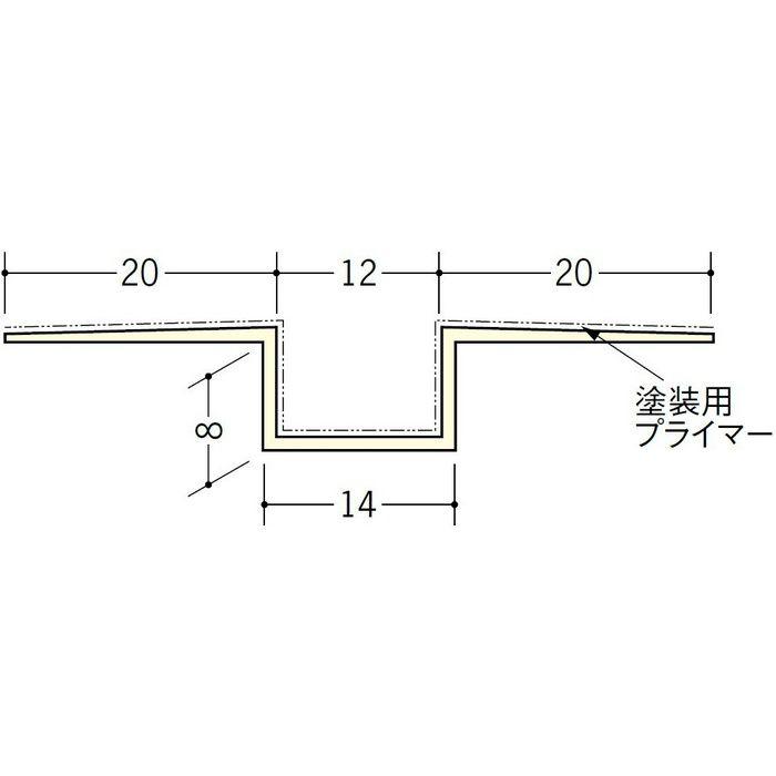 ハット目地12塗装プライマー付 ミルキー 2.5m 37157-1