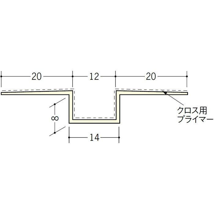 ハット目地12クロス用プライマー付 ミルキー 2.5m 37175-1