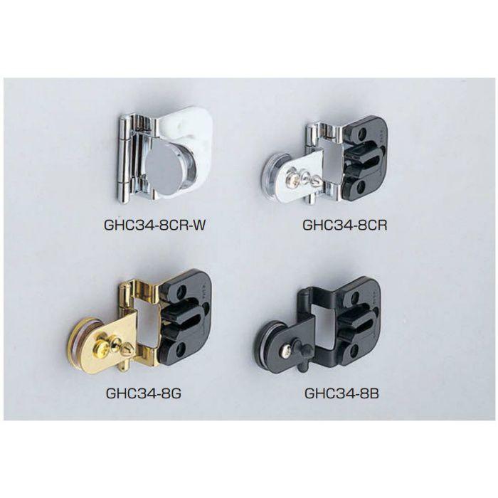 LAMP キャッチ付ガラス丁番 GHC34-8CR-W