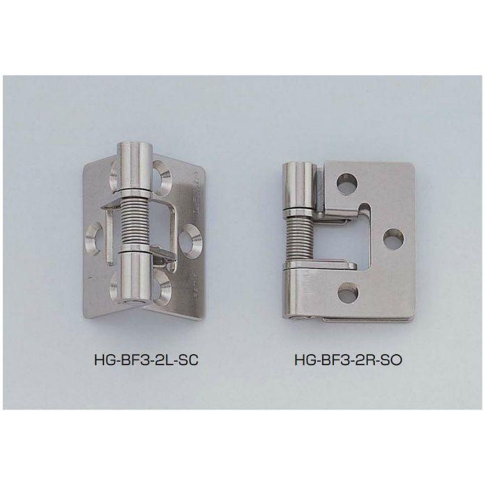 LAMP ステンレス鋼製スプリング丁番 HG-BF3-2型 (常閉仕様/左開き) HG-BF3-2L-SC 170-091-562