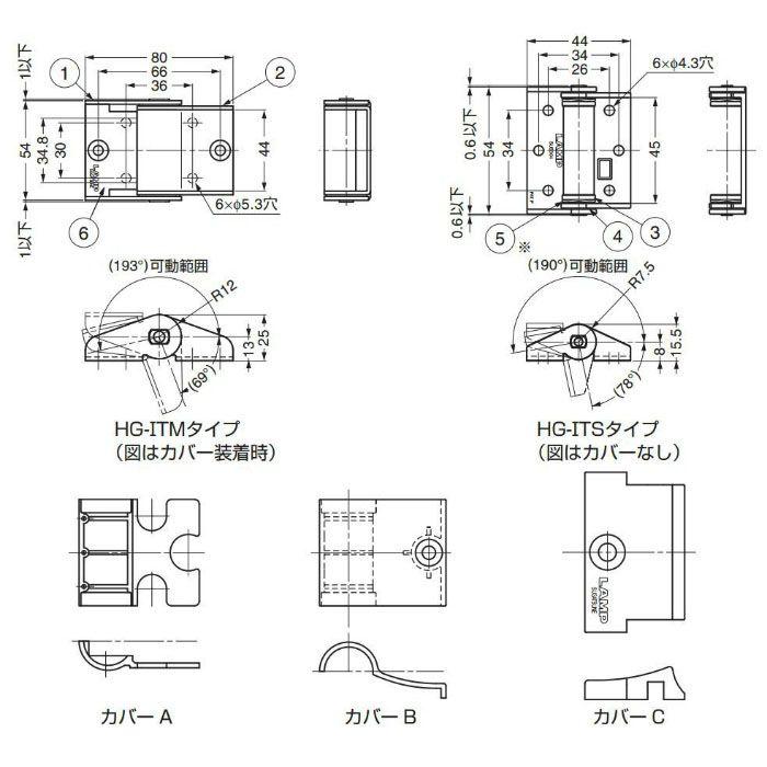 LAMP トルクヒンジ HG-IT型 HG-ITS25 170-090-106