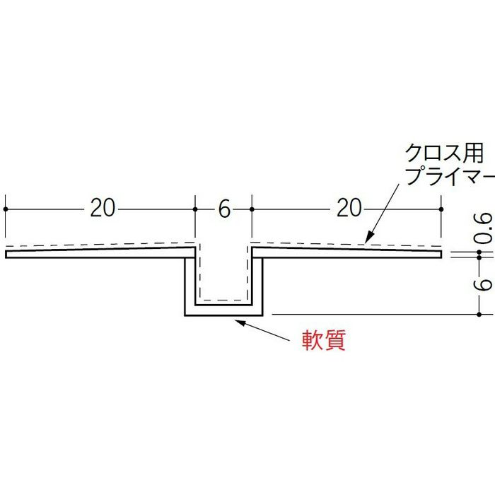 SP-6 クロス用プライマー付 ホワイト 2.5m 37163-1