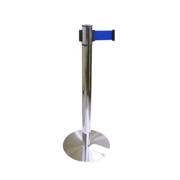 ベルトパーティション ステンレスタイプ ベルトカラー:ブルー 350×60.5×857