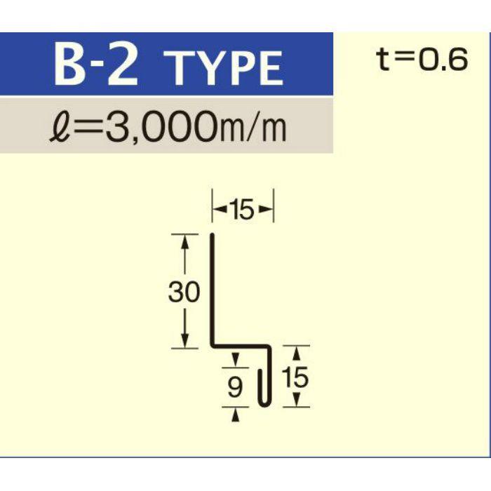 B-2 マットシルバー (C-552) アルミロールフォーミングスパンドレル ボーダー t=0.6mm L=3000mm
