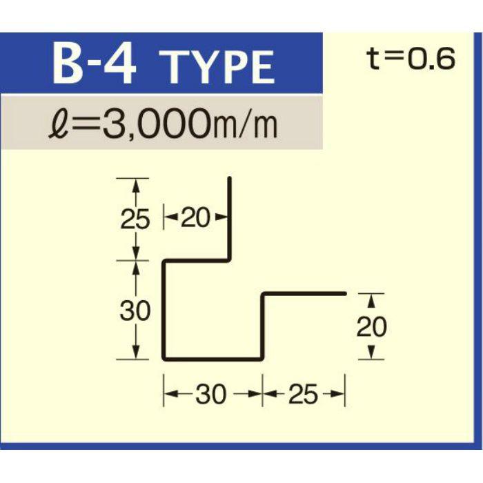 B-4 マットシルバー (C-552) アルミロールフォーミングスパンドレル ボーダー t=0.6mm L=3000mm