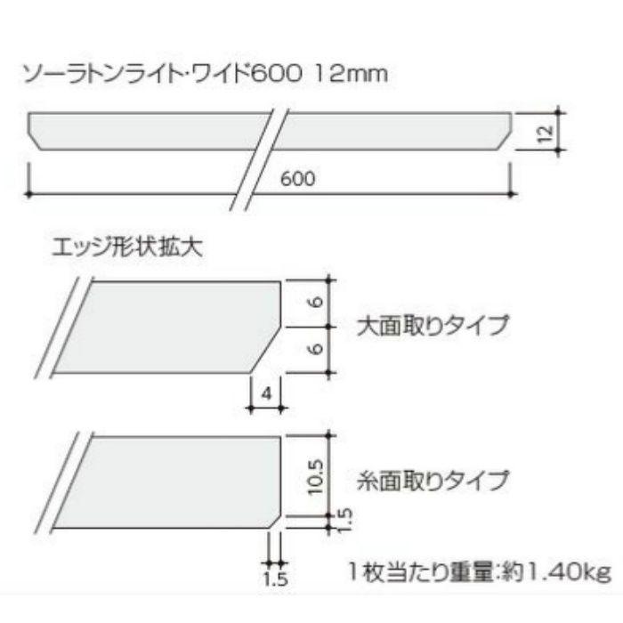 ソーラトンライト・ワイド直張600 ギンガ柄 12mm