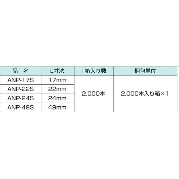 ANピン ANP-24S 2000本/ケース