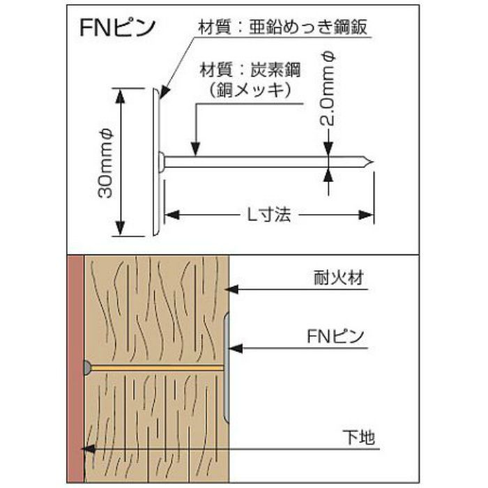 FNピン FNP-70 1000本/ケース