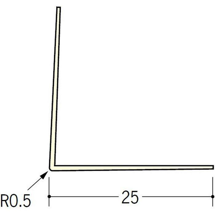 ペンキ・クロス下地材 出隅 ビニール L型コーナー25 ミルキー 2.73m  01015-2