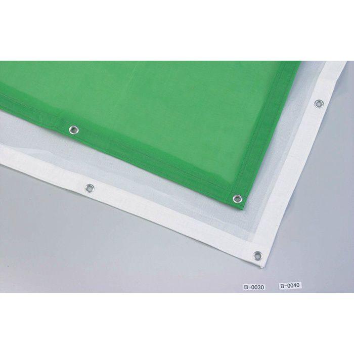 【ロット品】 ラッセルメッシュシート ホワイト 1.8m×3.4m 6梱包/セット
