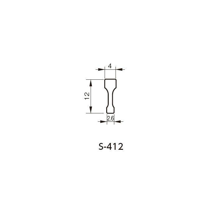 SUS目地棒 S-412 432-333 50本/ケース