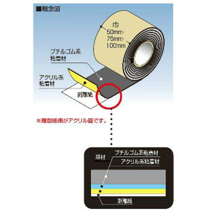 FHB50W ハイブリッド防水テープ 50W 16巻/ケース