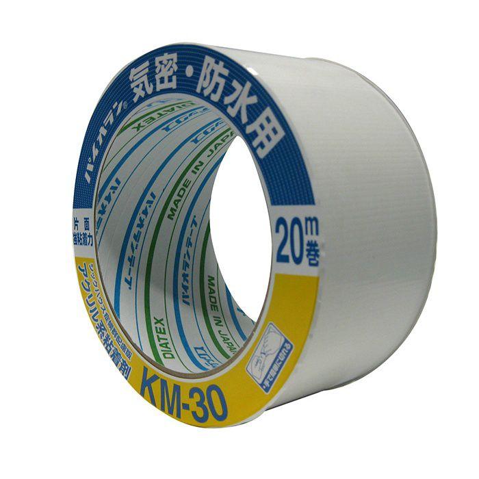 【ロット品】 気密テープ KM30片面 (WH) 100mm×20m巻 2ケース/セット