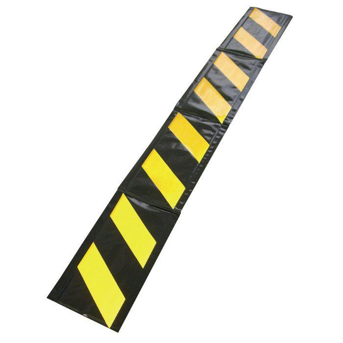 【ロット品】 コーナークッション 黄黒 幅 275mm×2000mm 10枚/ケース