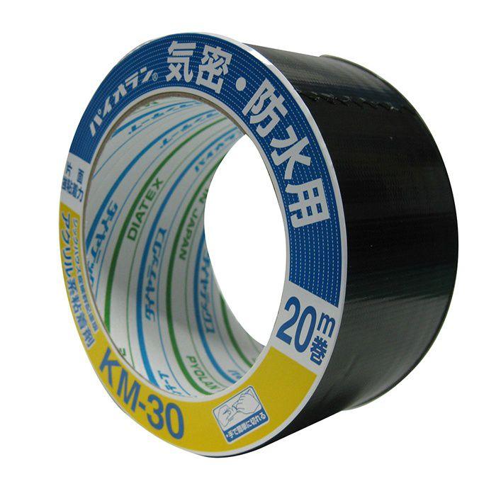 【小ロット品】 気密テープ KM30片面 (BK) 100mm×20m巻 18巻/セット