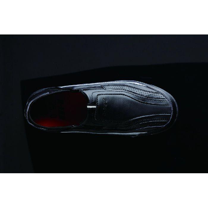 KZS-100 ブラック 24.0cm セーフティスニーカー (スリッポン)