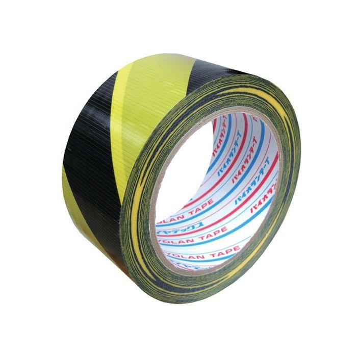 【小ロット品】 トラ模様粘着テープ TT06YB 幅 50mm×25m巻 30巻/セット