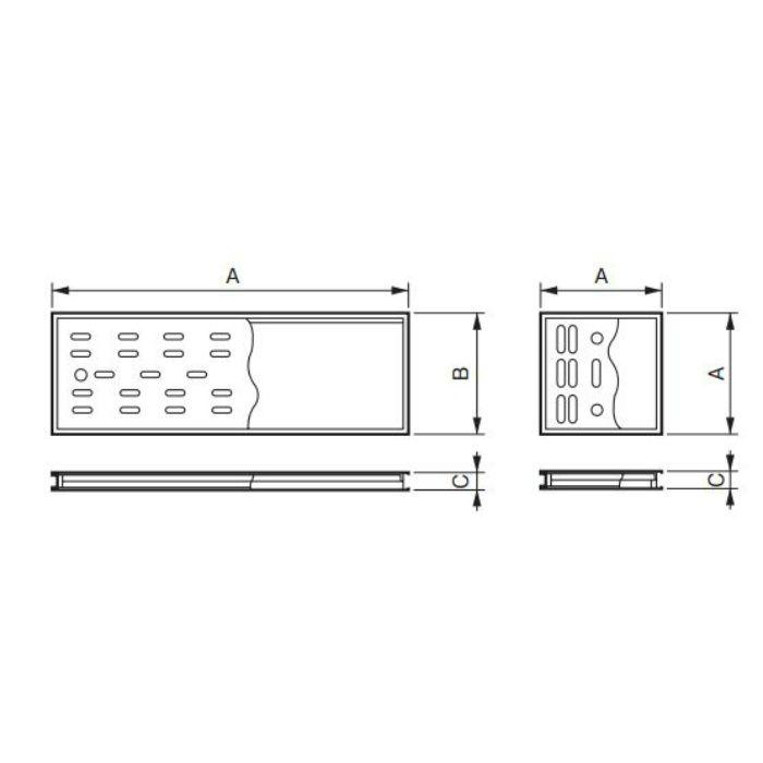枠付排水目皿 浅型 1515 10組/ケース
