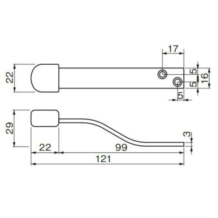 ステンS型上框戸当り アンバー RS-11 アンバー 20個/ケース