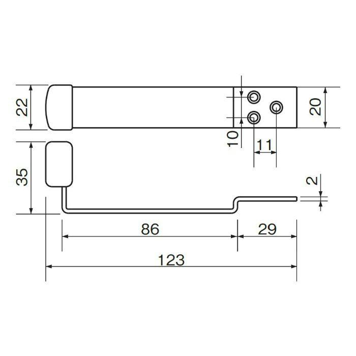 ステン上框戸当り アンバー RS-8 アンバー 20個/ケース
