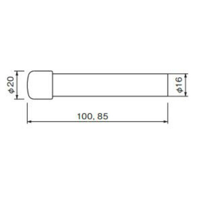 ポーチ戸当り 100 (磨きクリア) RB-11 金 20個/ケース