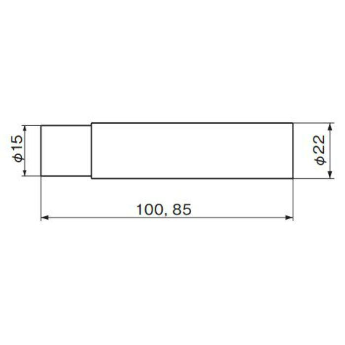 円筒戸当り 100 (磨きクリア) RB-2 金 10個/ケース