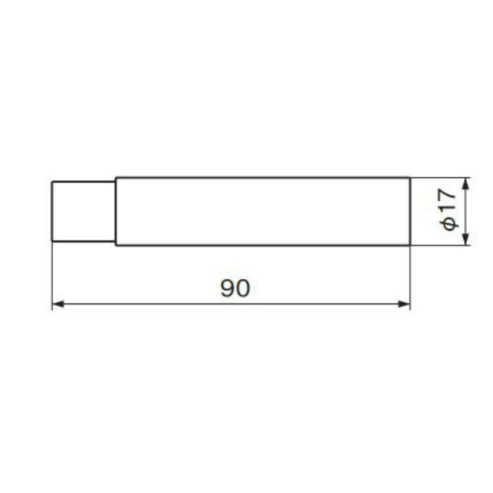 スリム円筒戸当り 90 (磨きクリア) RB-3 金 20個/ケース