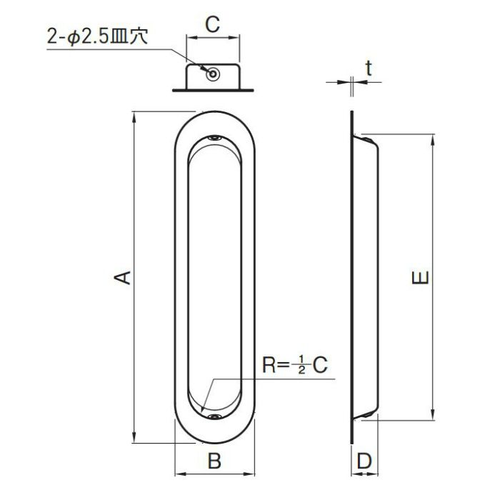 藤 戸引手 180mm SUS304 ステンカラー 10個/ケース