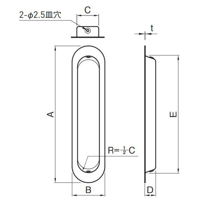 藤 戸引手 105mm SG 真鍮 サテンゴールド 30個/ケース