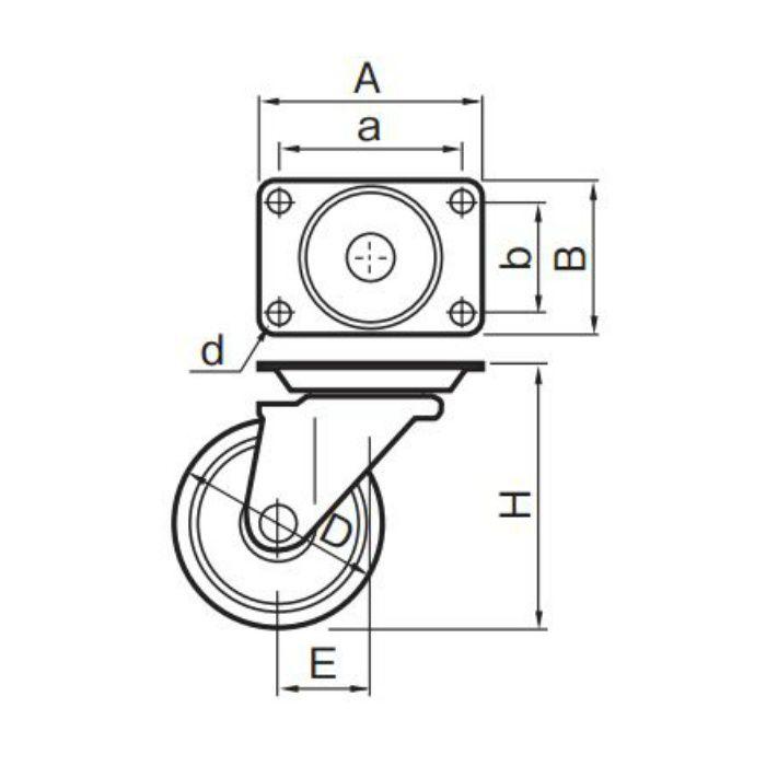 キャスター STC-50EM 4個/ケース