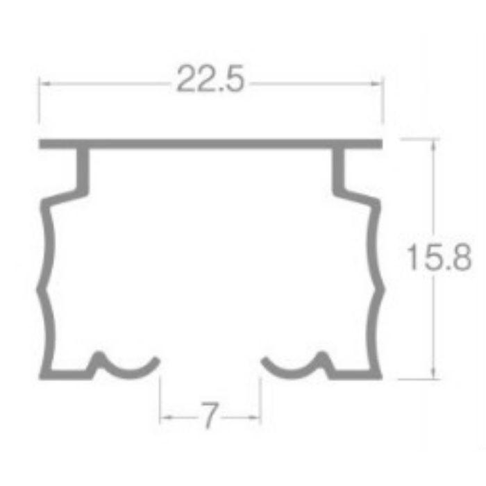 ニューデラック カーブレール アルミアンバー 180R 0.40m×0.40m
