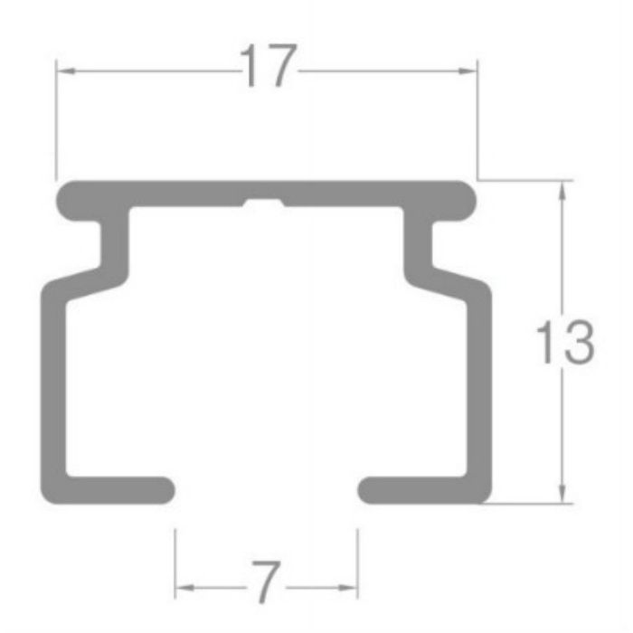 ウィンピア カーブレール アルミナチュラル 180R 1.00m×1.00m