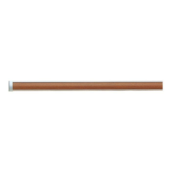 インテリアレールJ-1 レール・キャップセット ミディアムウッド3.00m 【セット品】