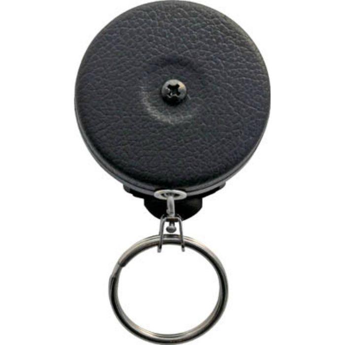 キーバック 黒カバー0.6mステンチェーン回転式ベルトクリップ