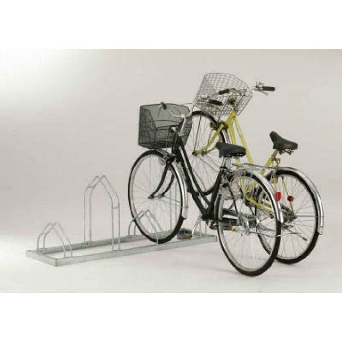 平置き自転車ラック前輪差込式サイクルスタンド 4台収容ピッチ600