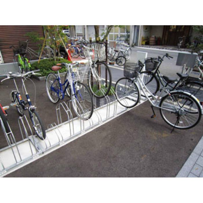平置き自転車ラック前輪差込式サイクルスタンド 両面12台収容