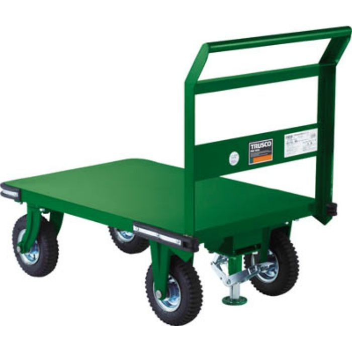 OHN2ARS 鋼鉄製運搬車 900X600 Φ223空気入タイヤ 鋳物金具 S付