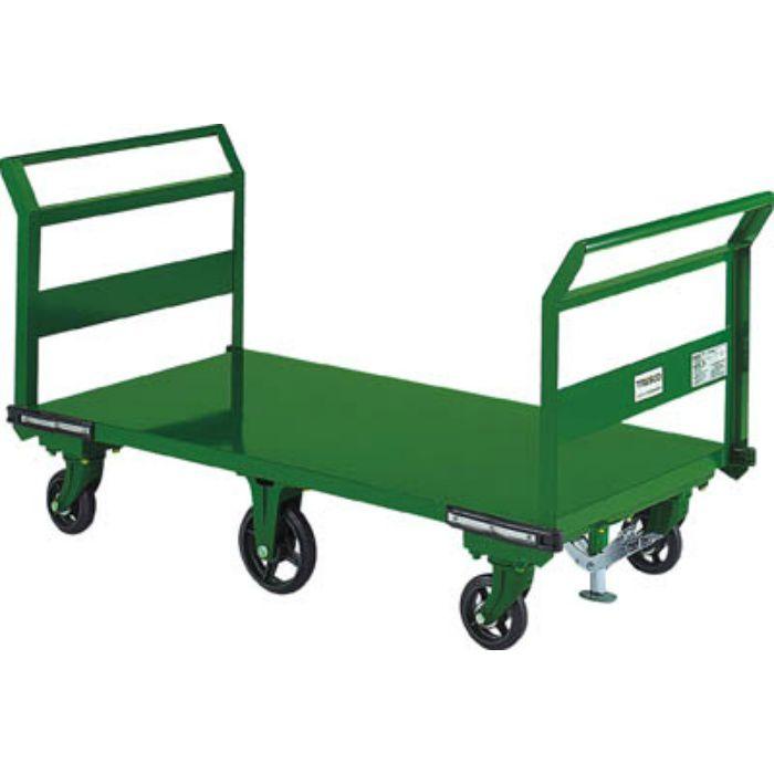 SOHN1LWS 鋼鉄製運搬車 両袖型 1400X750 鋳物6輪車 S付